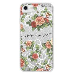 Capinha para celular Floral Renda Manuscrita