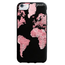 Black Case - Pink World Map Blank Phone Case