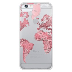 Pink World Map Blank Phone Case