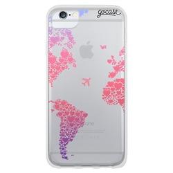 Hearts World Map Phone Case