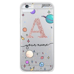 Planets Initial Glitter Phone Case