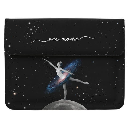 Case Clutch Notebook - Universo Bailarina Manuscrita