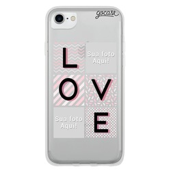 Picture - Love Grid Phone Case