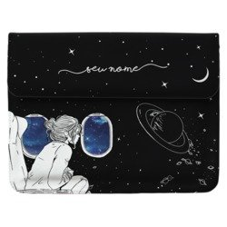 Case Clutch Notebook - Passageira Espacial Manuscrita