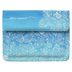 Case Clutch Notebook - Paisley Azul Manuscrita