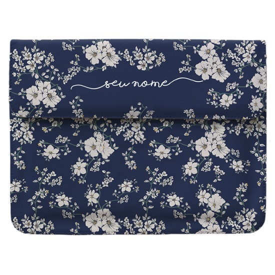 Case Clutch Notebook - Flores Noturnas Manuscrita