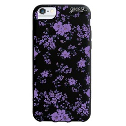 Black Case - Pretty Purple Flowers Phone Case