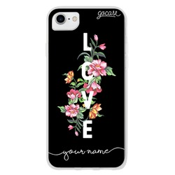 Love in Flowers Handwritten Phone Case