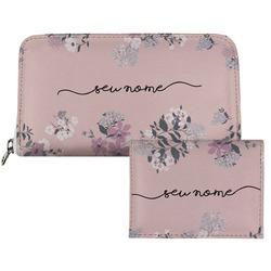 Carteira Saffiano Personalizada - Bem Floral Manuscrita