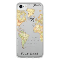 World Map Clean Customizable Phone Case
