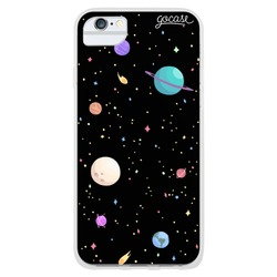 Planets Black Phone Case