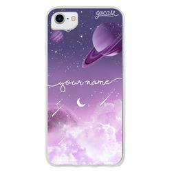 Purple Universe Handwritten Phone Case