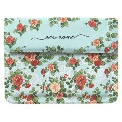 Case Clutch Notebook - Floral Renda Manuscrita