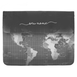 Case Clutch Notebook - Mapa Mundi Black Manuscrita