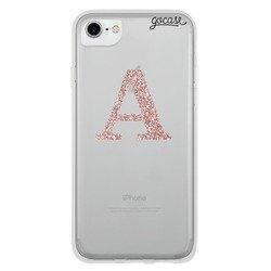 Initial Glitter Rose Phone Case