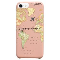 Royal Rose -World Map Blank Handwritten Phone Case