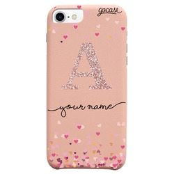 Royal Rose - Royal Rose Hearts Initial Glitter Phone Case Phone Case