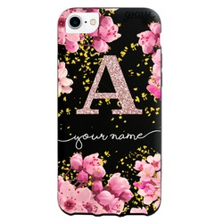 Black Case - Black Case - Rose Gold Initial Glitter Phone Case Phone Case