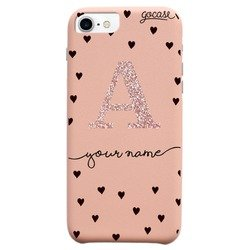 Fascino - Royal Rose Pattern Black Hearts Glitter Phone Case  Phone Case