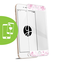 Pink Watercolor White Screen Protector - Tempered Glass
