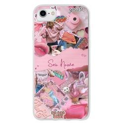 Capinha para celular Pink Collage Personalizável