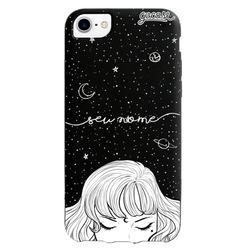 Capinha para celular Color Black - Menina das Estrelas