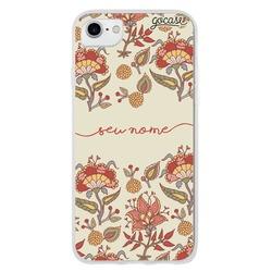 Capinha para celular Floral Carmim Manuscrita