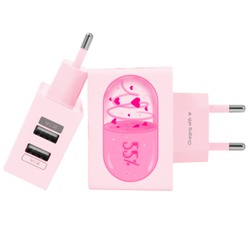 Carregador Personalizado Rosa iPhone/Android Duplo USB de Parede Gocase - Loading