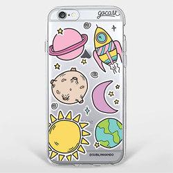 Capinha para celular Planetas Patches