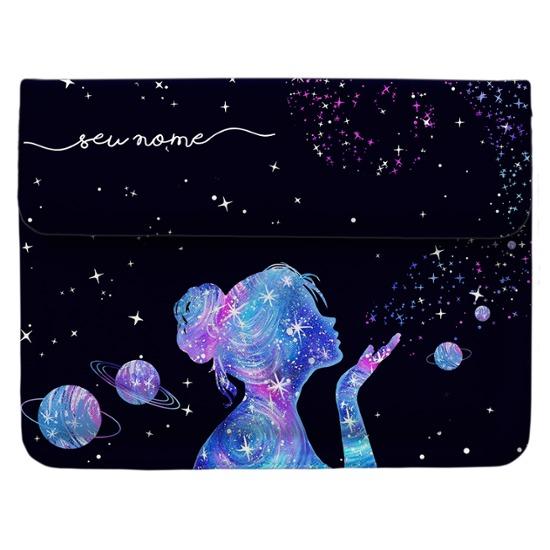Case Clutch Notebook Personalizada - Poeira das Estrelas Manuscrita