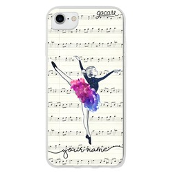 Ballerina and Score Music Customizable Phone Case