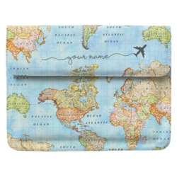 Laptop Sleeve - World Map Handwritten