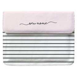 Case Clutch Notebook - Linhas Tricolor Manuscrita