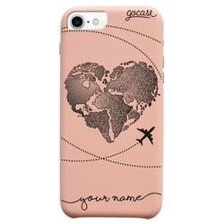Royal Rose - World Map Heart Phone Case