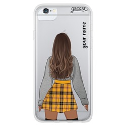 Emily - Black Long Brown Phone Case