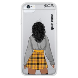 Emily - Black Dark Curly Phone Case