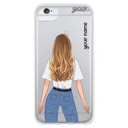 Olivia - White Long Blond Phone Case
