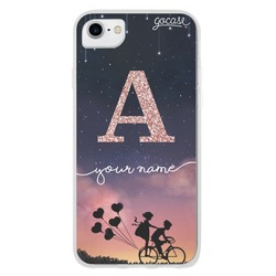 Poetry of the evening Initial Glitter Phone Case