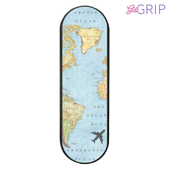 Gogrip Black - World Map