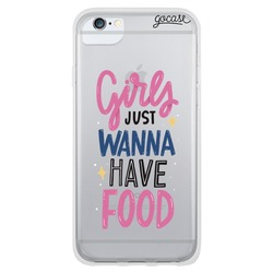 Girls just wanna have food Phone Case