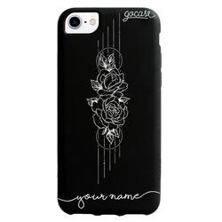 Black Case - Color Black - Flowers in Lines Phone Case