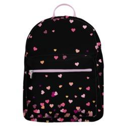 Mochila Gocase Bag Personalizada - Corações Flutuantes Black Manuscrita