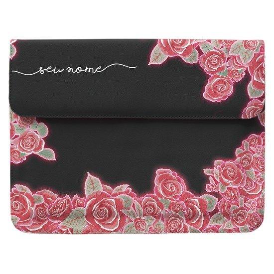 Case Clutch Notebook - Flores Neon Manuscrita