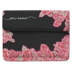 Case Clutch Notebook - Flores Neon Manuscrita