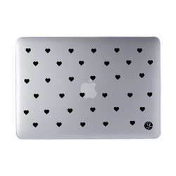 Laptop Case MacBook - Black Hearts