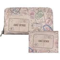 Carteira Saffiano - Passaporte Customizável