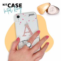 Kit Ring Silver (size 16) + Hearts Handwritten Initial Glitter