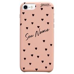 Capinha para celular Fascino - Black Hearts Personalizada