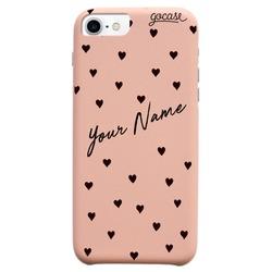 Royal Rose - Pattern Black Hearts Customizable Phone Case