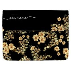 Case Clutch Notebook - Golden Flowers Manuscrita